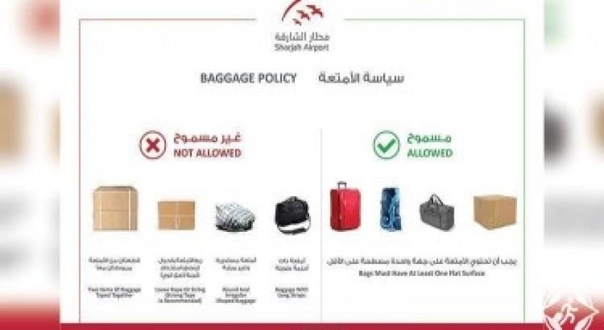 مطار الشارقة الدولي يبدأ بتطبيق قواعد جديدة للتعامل مع أمتعة المسافرين